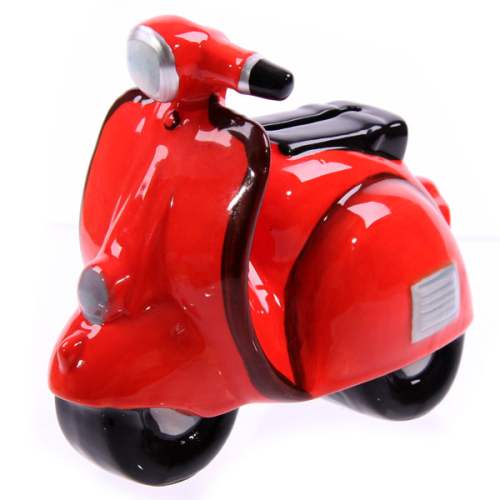 retro roller motorroller scooter coole rote spardose. Black Bedroom Furniture Sets. Home Design Ideas