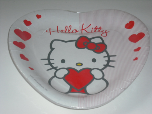 Hello Kitty: 8 x Kinderteller, Pappteller, Einweggeschirr
