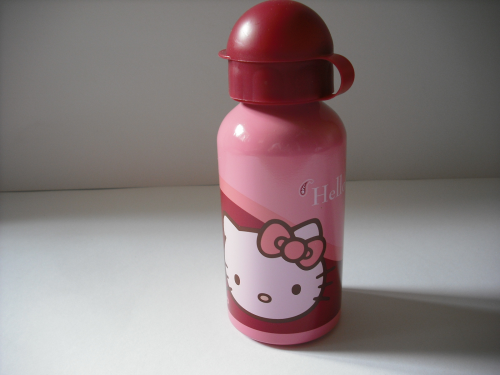 Trinkflasche Hello Kitty, India Aluflasche 400 ml